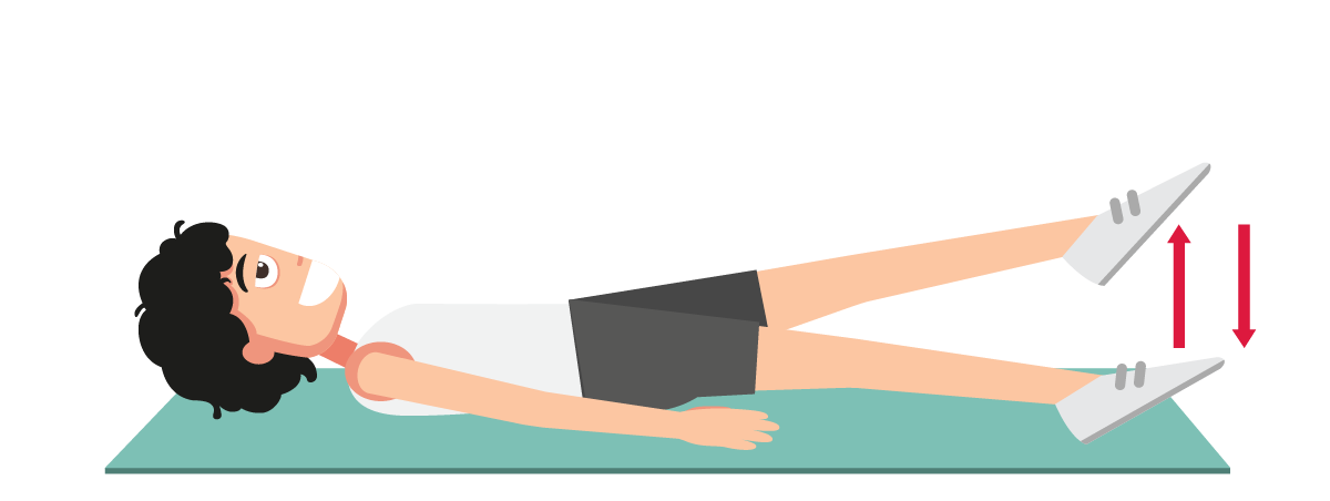 足上げ運動の説明図