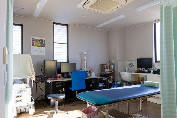 改装期間中の2階診察室