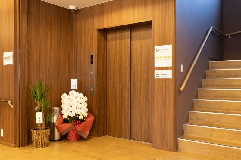 愛知県一宮市の森整形外科のエレベーター